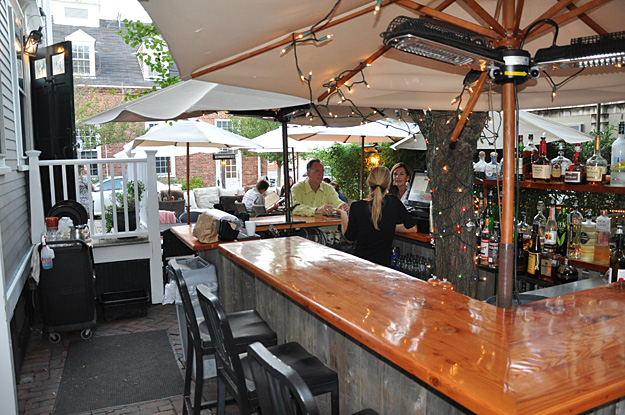 Tucked On A Side Street In The Center Of Town Offers Both Indoor And Outdoor Dining Their Brick Patio Has Comfy Couch Seating With Tables Sheltered