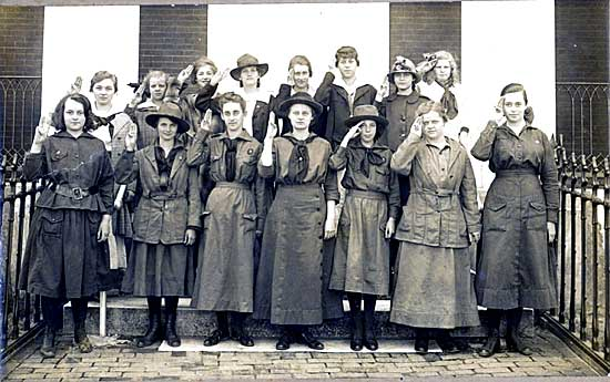 The first girl scout troop on nantucket photo courtesy of the nha
