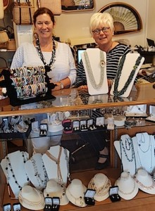 Pam Freitus and Judi Hill at the Nantucket Pearl Company