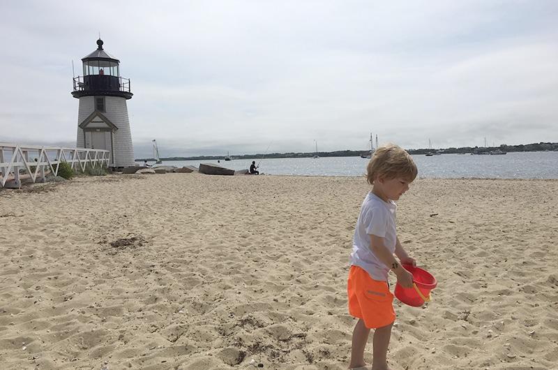 Beach combing on Nantucket