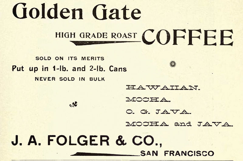 1898 Folgers Ad