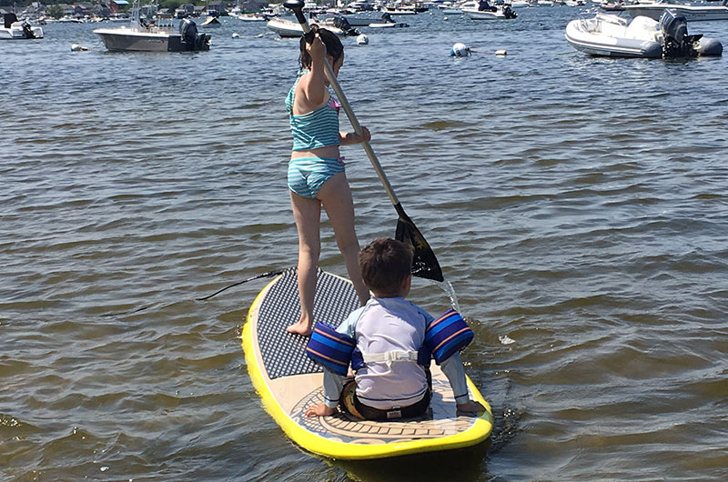 Paddle boarding on Nantucket