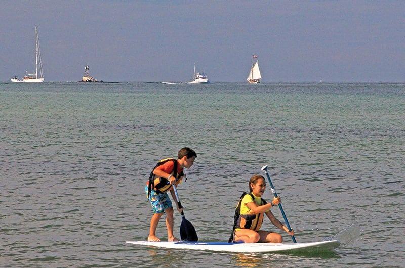 Paddle boarding on Nantucket