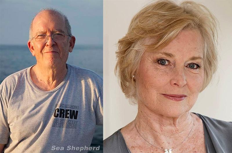 Dr. Roger Payne and Lisa Harrow on Nantucket