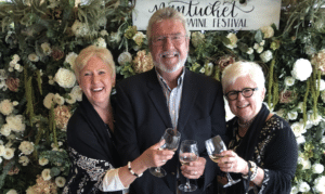 Kim Corkran with Judi & Greg Hill on Nantucket