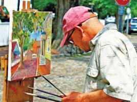 Michael Torrisi Street Painter   Nantucket, MA