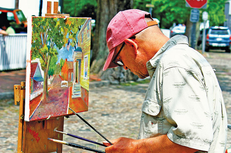 Michael Torrisi Street Painter | Nantucket, MA