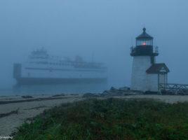 Foggy boat   Nantucket, MA