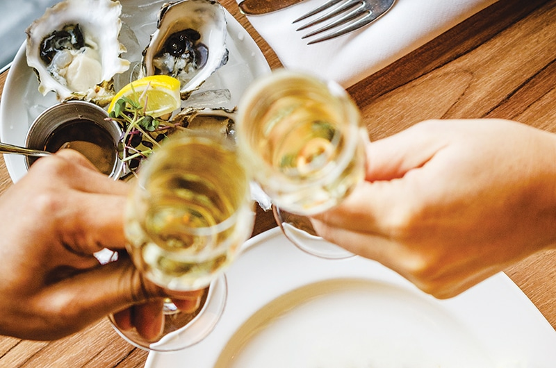 oysters and champagne | Nantucket, MA