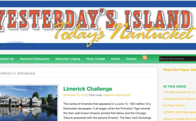 Nantucket Limerick Challenge
