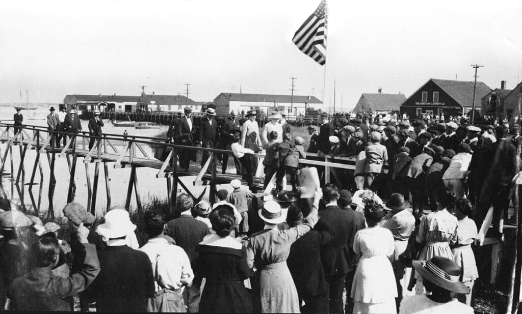 Woodrow Wilson arriving in September of 1917 photo courtesy Nantucket Historical Association archives