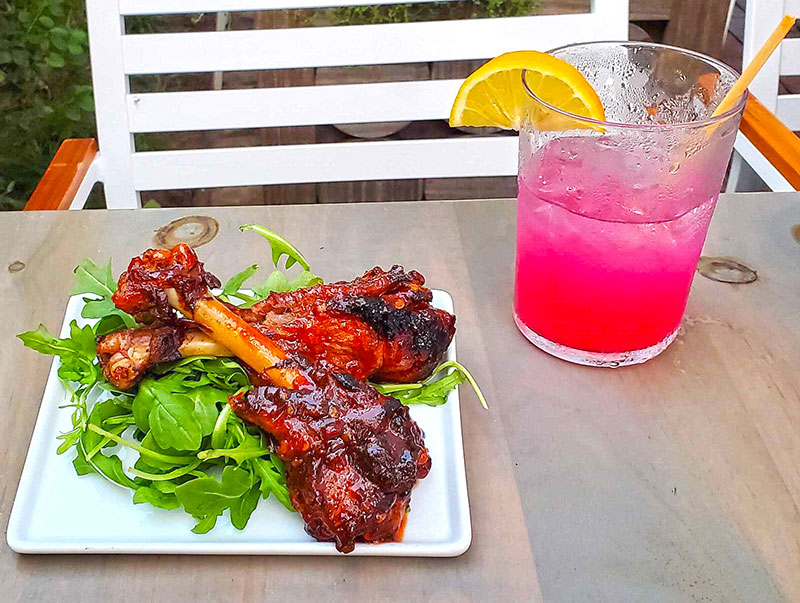 The Beet, Smoked Chili D'Artagnon Duck Wings